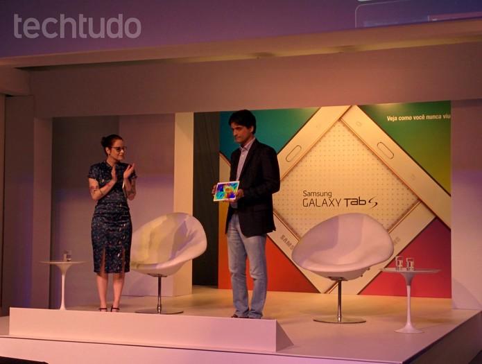 Samsung Galaxy Tab S chega ao Brasil (Foto: Paulo Alves/TechTudo)