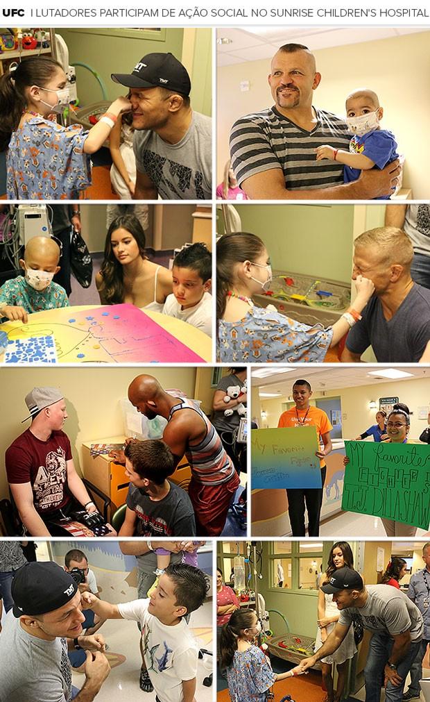Mosaico UFC Ação Social Sunrise Children's Hospital (Foto: Editoria de Arte)