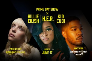Billie Eilish, HER e Kid Cudi farão shows para o Prime Day 2021