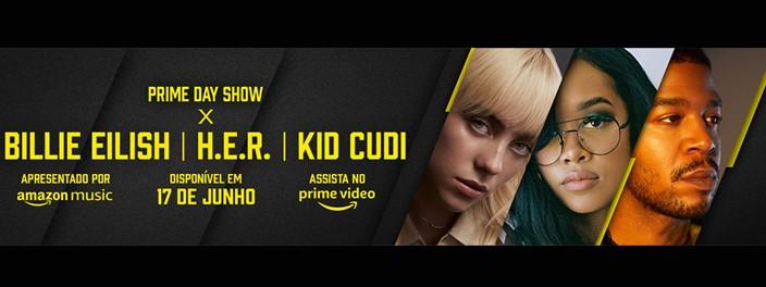 Imagem de: Prime Day: Amazon fará shows com Billie Eilish, HER e Kid Cudi