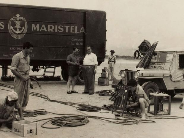 Bastidores da Companhia Cinematográfica Maristela, no Jaçanã, Zona Norte de São Paulo (Foto: Reprodução Maristela Filmes)