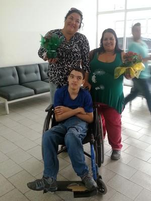 Elizabeth e Cassiano Bocha Paralímpica (Foto: Roberta Oliveira)