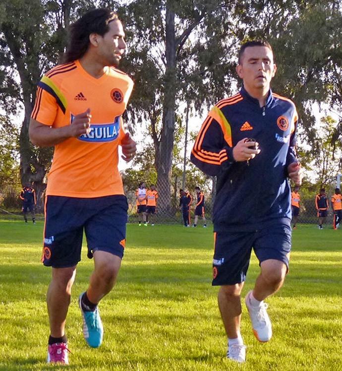 Falcão Garcia treino Colômbia  (Foto: Divulgação / Federação Colombiana)
