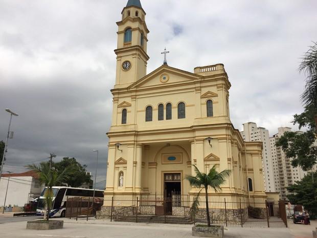 Largo da Freguesia do Ó com Igreja Matriz (Foto: Tatiana Santiago/G1)