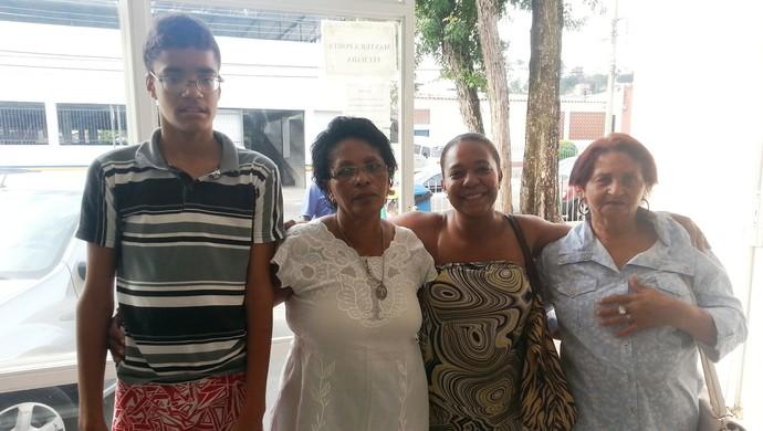 Jonas, Maria das Dores, Adelina e Sônia natação paralímpica Juiz de Fora (Foto: Roberta Oliveira)