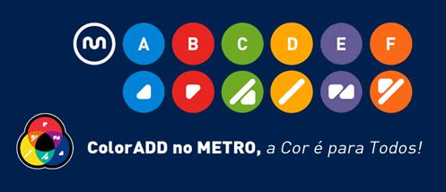 metro do porto daltónicos